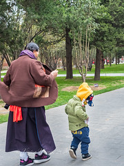 Old lady and grandson in park, Beijing (Victor Wong (sfe-co2)) Tags: adult age asian assistance attire beijing boy child children china city clothing crosswalk dress elderly family female generation girl go grandchild grandma grandmother grandparent grandson granny green happiness happy kid kind lady lifestyle mature mother old park people person retired retirement senior son street toddler together traditional white woman young