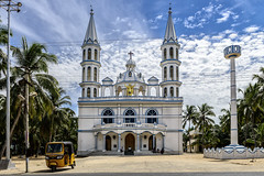 New Holy Cross Church, Keezha Manakudi (Anoop Negi) Tags: newholycrosschurch keezhamanakudikanyakuarinagercoiltamilnadusouthindiachristanityautorickshawyellowphotophotographyanoopnegiezee123traveltravels new holy cross church keezha manakudi kanyakumari tamilnadu south india travel travels beach head road chothavilai periyakadu sanguthurai photo photography architecture outdoors monument christanity anoop negi ezee123