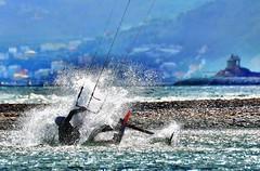 Splash... (Pier Romano) Tags: kite kitesurf mare sea splash albenga foce centa liguria italia italy alassio cappelletta
