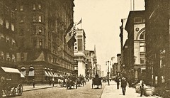 33rd Street and 5th Ave. Manhattan, NYC - 1905 (SSAVE w/ over 7 MILLION views THX) Tags: newyorkcity manhattan 1905 streetscenes