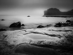 Black Dawn (EosKid) Tags: 2013 coastal mist misty trow trowrocks ocean spooky landscape seascape atmosphere weather morning dawn sunrise peter fenech rocks coastline england travel canon sigma