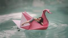 255/365 (Katrina Y) Tags: selfportrait 2017 365project origami swan manipulation photomanipulation surreal surrealphotography conceptual creative concept artsy art water