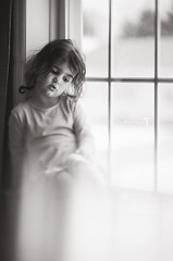 """""""The promise of spring's arrival is enough to get anyone through the bitter winter."""" -Jen Slelinsky (Shannon Alexander Photography) Tags: bw blackandwhite fineartphotography fineartphotographer childphotography child girl windowlight freelensing freelensed canon 135mmf2l"""