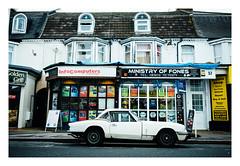 The Great British High Street (Wil Wardle) Tags: wilwardle photography canon 5dmk3 sigma 35mm f14 primelens artserieslens adobelightroom ebphoto britain britishphotographer england sigmaart35mm british stag triumph carportraiture exploringtheautomobile carportrait