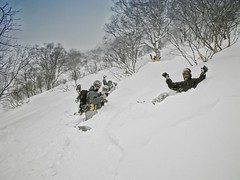 Backcountry Problems (/\ltus) Tags: powder niseko backcountry snowboard casio film filmcamera japan hokkaido annupuri beforetheaussieinvasion gv10