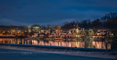 Boathouse Row in Philly (betty wiley) Tags: boathouserow boat house philadelphia pennsylvania bettywileyphotography bluehour dusk schukyll river lights reflections