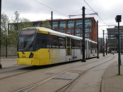 Manchester Metrolink 3008 (Boothby97) Tags: bombardierm5000flexityswift manchester tram manchestermetrolink 750vdcelectric 750vdc ratpdev piccadillygardens piccadillygardensdeltajunction 3008 lineb