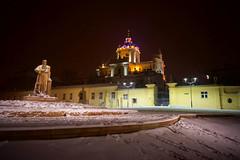 St. George's Cathedral at Night (tarmo888) Tags: sel16f28 sonyalpha sonyα nex7 geotaggedphoto geosetter sooc photoimage фотоfoto year2016 nightshot snow lumi снег ukraine україна ukrayina украи́на украина lviv lwów lvov lemberg львів львов leopolis lwow autohdr unesco