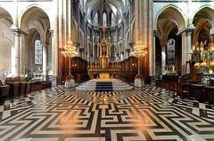 Saint-Omer (Pas-de-Calais) - Cathédrale Notre-Dame - Le Labyrinthe