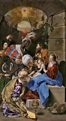 Juan Bautista Maino Adoration of the Kings Spain (1613) Oil on canvas, 315 x 174.5 cm. Museo del Prado, Madrid (medievalpoc) Tags: art history medievalpoc adoration spain juan bautista maino huh could have sworn had posted this one before but cant find it if assume others again 1600s