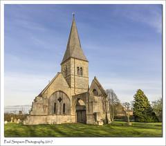 Aubourn, Lincolnshire (Paul Simpson Photography) Tags: lincolnshire paulsimpsonphotography church religion imagesof imageof photoof photosof sonya77 aubournclocktower villagechurch april2017 bluesky spring shadows