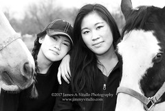 Equines (James A. Vitullo Photography) Tags: equineportrait equestrianportrait farm ohana henley leigh sarah equestriansisters equestrians equestrian equinesisters horses horse equines