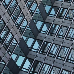 Here & There (No Great Hurry) Tags: londonarchitecture mirrored repetition pattern urbanabstract mirror glass windows building architecture offices blue reflections architectureontheslant constructuralart diagonal westminster nogreathurry robinmauricebarr geometric lines géométrie