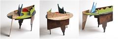 Ovalen tafel / Oval table (Renze Koenes) Tags: renze koenes art painting 3d cubism cut out stillife cardboard