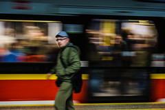 no time to wait! (Rry_) Tags: metro rush warsaw poland 55mm movement colors