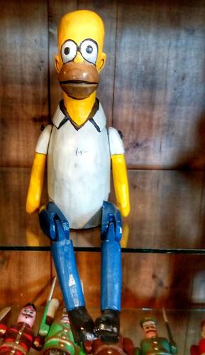 A wooden Homer (£18).