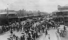 Eight Hour Day procession Bourbong Street Bundaberg ca 1912 (State Library of Queensland, Australia) Tags: labourday statelibraryofqueensland slq eighthourmovement processions bundaberg eighthourday work