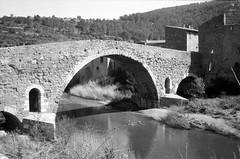 Le Pont-Vieux à Lagrasse (Philippe_28 (maintenant sur ipernity)) Tags: lagrasse corbières orbieu 11 aude france europe olympus trip 35 24x36 argentique analogue camera photography film caffenol