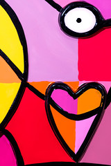 Love (FotoCorn on/off) Tags: macro 6love 52of2017 love hart coeur colours bold jacquelineschäfer keramique tile art kunst colors abstract