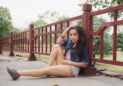(Sunshine Thief) Tags: analog 35mm film fujicolor superia olympusom1 zuiko 50mm portraiture portrait summer sexy