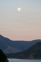 DSCF7861 (nason.sarah) Tags: maudisland landscape nz newzealand islands moon moonrise moonset sunset ocean marlborough sounds sky nature