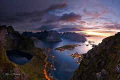 Mystic Dawn (Yan L Photography) Tags: norway mountains reine lofoten lofotenislands dawn nightphotography yanphotography yanlphotography
