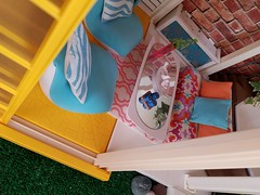 Pool house (moonpiedumplin) Tags: barbie dream house vintage redo repaint diy room courtyard yard deck porch mansion lanai outdoor 80s mattel custom camp outdoors frame cottage ooak bar cabinet curio indoor patio garden 1970s 1980s collection sofa chair mod livingroom