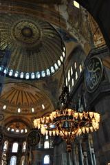 The Hagia Sophia, Istanbul (ronmcbride66) Tags: turkey istanbul hagiasofia cathedral mosque arabic attaturk secular dome chandelier hagiasophia basilica byzantine architecture byzantinearchitecture mosais marble 537ad imperialmosque