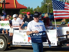 (mestes76) Tags: 080416 duluth minnesota spiritvalleydaysparade parades people strangers politics politicians republicans gop trump donaldtrump president potus campaign election supporters racist hatred evil signs awfulpeople sad