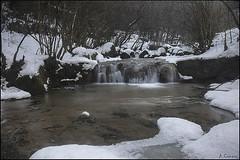 Agua y nieve. (antoniocamero21) Tags: agua nieve invierno paisaje rio color foto sony vallfogona girona catalunya