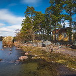 Little yellow house by the sea thumbnail
