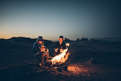 Meet me in the desert. (aamith) Tags: desert camping scouts fire sunset boys 35mm sigmaart sigma