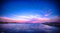 Sunset On Bouzigues. (j૯αท ʍ૮ℓαท૯) Tags: sky landscape sunset water reflection nature travel light evening cloud outdoors fair weather