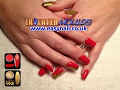 Leanne Red and Gold (invertednailsystems) Tags: uk pink red black art beauty smile glitter training gold acrylic cheshire stripes nail lounge polish line course nails crewe zebra salon technician manicure inverted gel false extensions nailart sculptured sunseekers powders moulds enuk easynail easynailuk