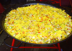 Huge chicken paella (Tony Worrall Foto) Tags: show uk england food cooking yellow fun nice colours dish rice yorkshire north cook tasty eaten event eat foodporn huge pan taste annual cooked venue malton iatethis foodie flavour northyorks 2013tonyworrall maltonfoodfestival2013
