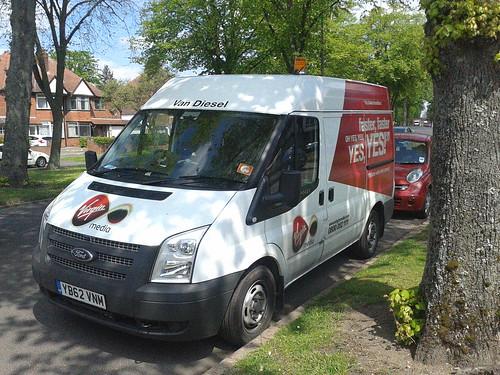 Van Diesel - Virgin Media van - Highfield Road, Hall Green