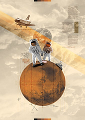 Searching For A Life On Mars (Kacper.Kie) Tags: mars collage solar space astronaut system astronomy universe curiosity