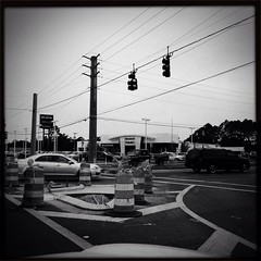 Intersection (RW Sinclair) Tags: street urban blackandwhite monochrome florida intersection milton florid uploaded:by=flickrmobile flickriosapp:filter=nofilter