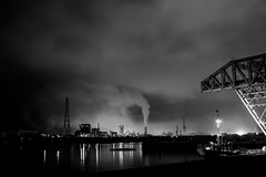Industrial area  (ogizoo) Tags: bw blackwhite industrial fuji nightview 1855 fujinon xe1