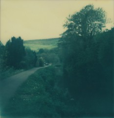Brecon and Monmouthsire Canal borderless (L. McG.-E.) Tags: film polaroid sx70 instant analogue px70 impossibleproject colorprotection