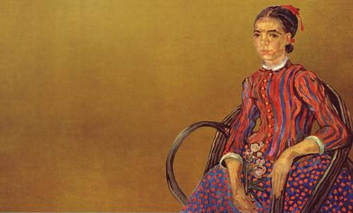 """La Mousmé, estilización de Vincent van Gogh (1888), transpolación de Pablo Picasso (1937). • <a style=""""font-size:0.8em;"""" href=""""http://www.flickr.com/photos/30735181@N00/8805036617/"""" target=""""_blank"""">View on Flickr</a>"""