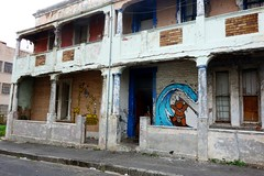 Paintings on an old house in Woodstock (j_hallward) Tags: streetart southafrica capetown woodstock graffit