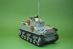 "M4A3E2 Sherman ""Jumbo"" of the 761st (4) (Dunechaser) Tags: usa army tank unitedstates lego military worldwarii ww2 m4 sherman jumbo allied brickarms m4a3 m4a3e2 761st"