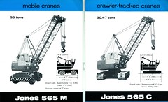 Jones 565 M & C (71B / 70F ( Ex Jibup )) Tags: mobile crane head boom block chassis hook derrick root heavy jib strut sections slew ballast lifting hoist telescopic counterweight outriggers
