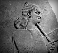IMG_6691 (Mat_B) Tags: uk vacation england man london june stone museum hair britain visit carving relief british bas assyrian 2013