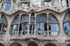 Detail of facade Casa Batllo in Barcelona (bbic) Tags: detail architecture facade gaudi