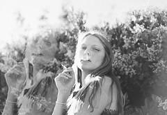 Exhale (Danielle Pearce) Tags: white me girl canon mark smoke hipster overlay smoking ii balck 5d
