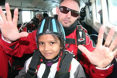 NZONE Skydive 6 year old Indian Mahek (NZONE Skydive) Tags: newzealand skydiving southisland queenstown skydive parachuting freefall tandemskydive freefalling