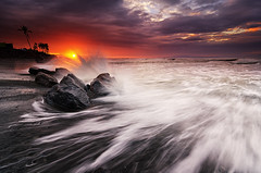 How It Starts (eggysayoga) Tags: sky bali cloud sun seascape motion sunrise indonesia landscape nikon rocks cloudy hard wave tokina filter lee nd splash graduated waterscape gnd 1116mm ketewel manyar d7000