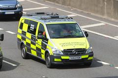 SG62KSK (Emergency_Vehicles) Tags: june mercedes highway traffic m1 leicestershire agency veto ksk officers 2013 sg62 sg62ksk